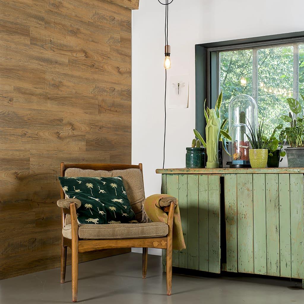 WallArt Lišty s dreveným vzhľadom v štýle dubového dreva hnedé