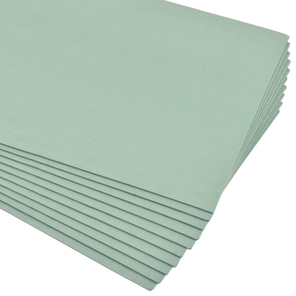 vidaXL Izolačné dosky z XPS peny zelené 5 mm 100x50 cm 30 m²