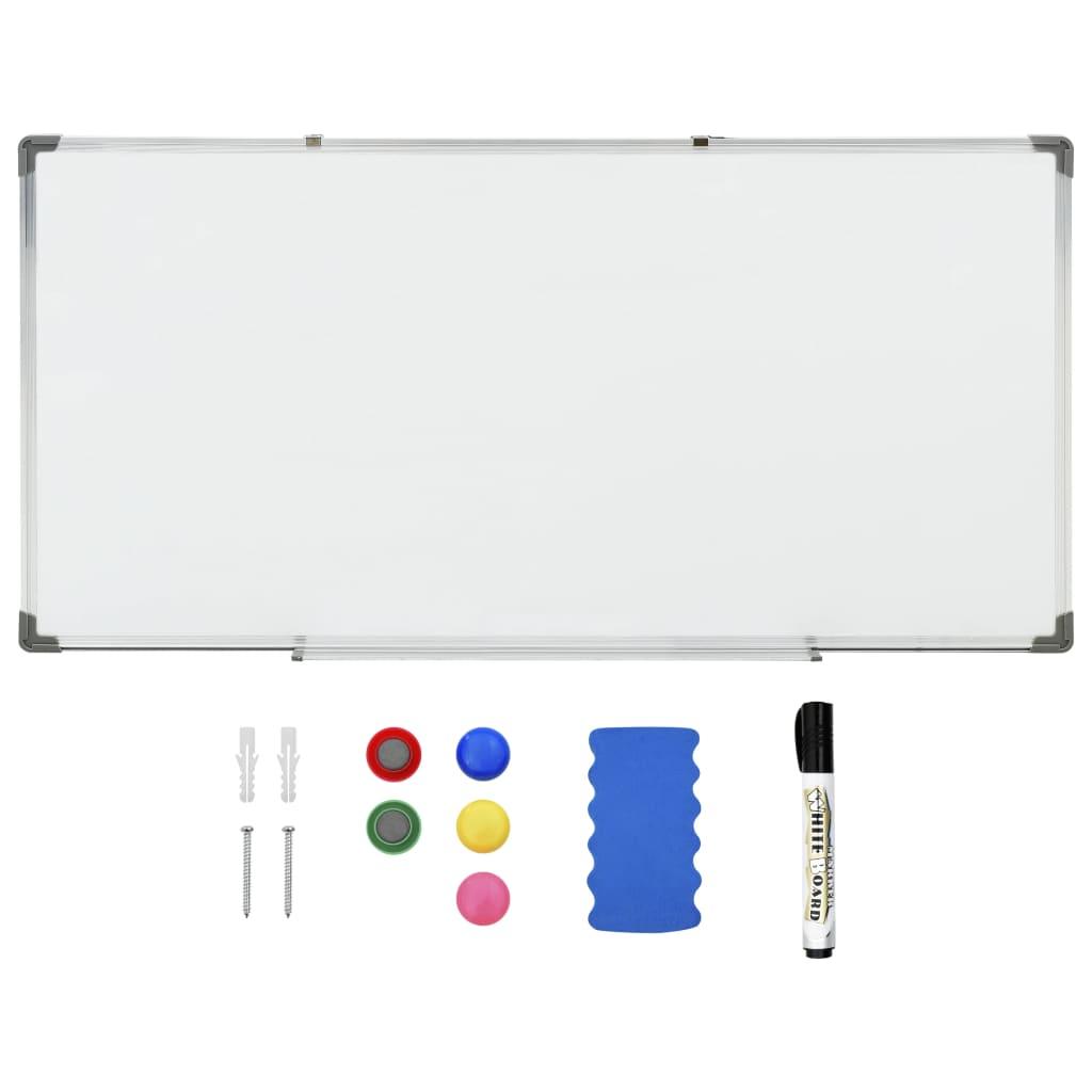 vidaXL Magnetická tabuľa stierateľná za sucha biela 120x60 cm oceľ