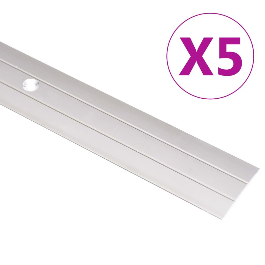 vidaXL Podlahové profily 5 ks, hliník 100 cm, zlaté