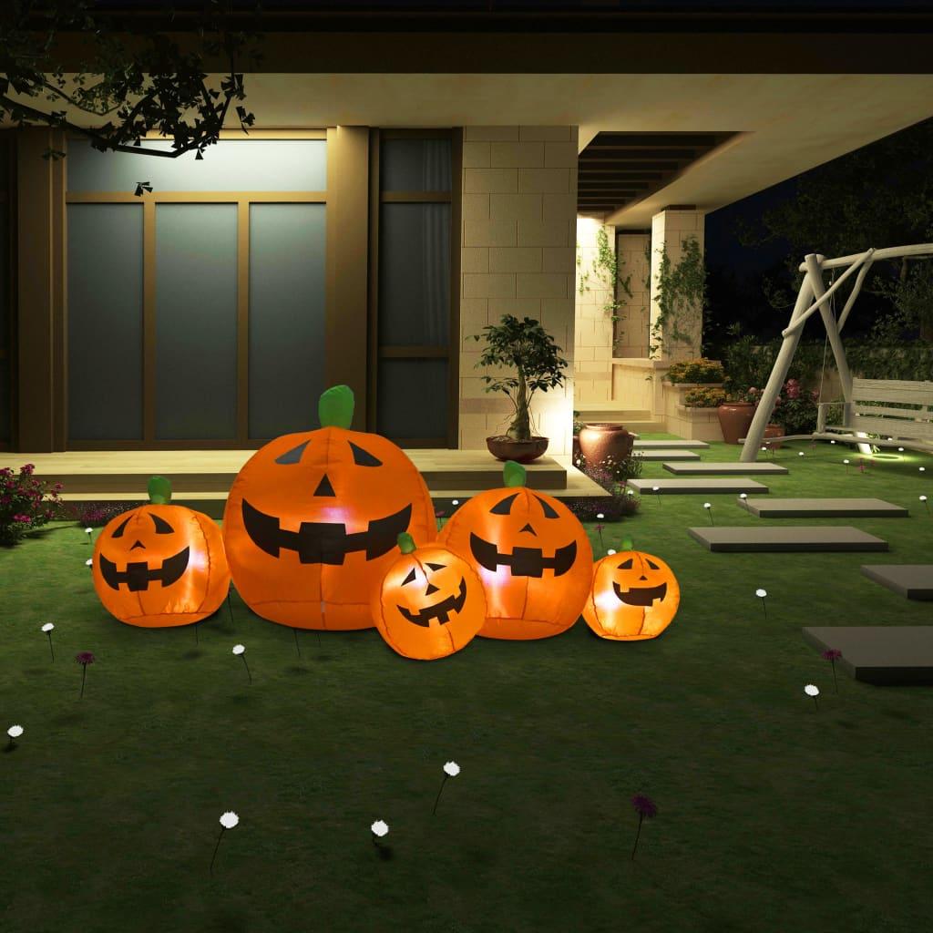 vidaXL Halloweenska rodina nafukovacích tekvíc s LED diódami 1,8 m