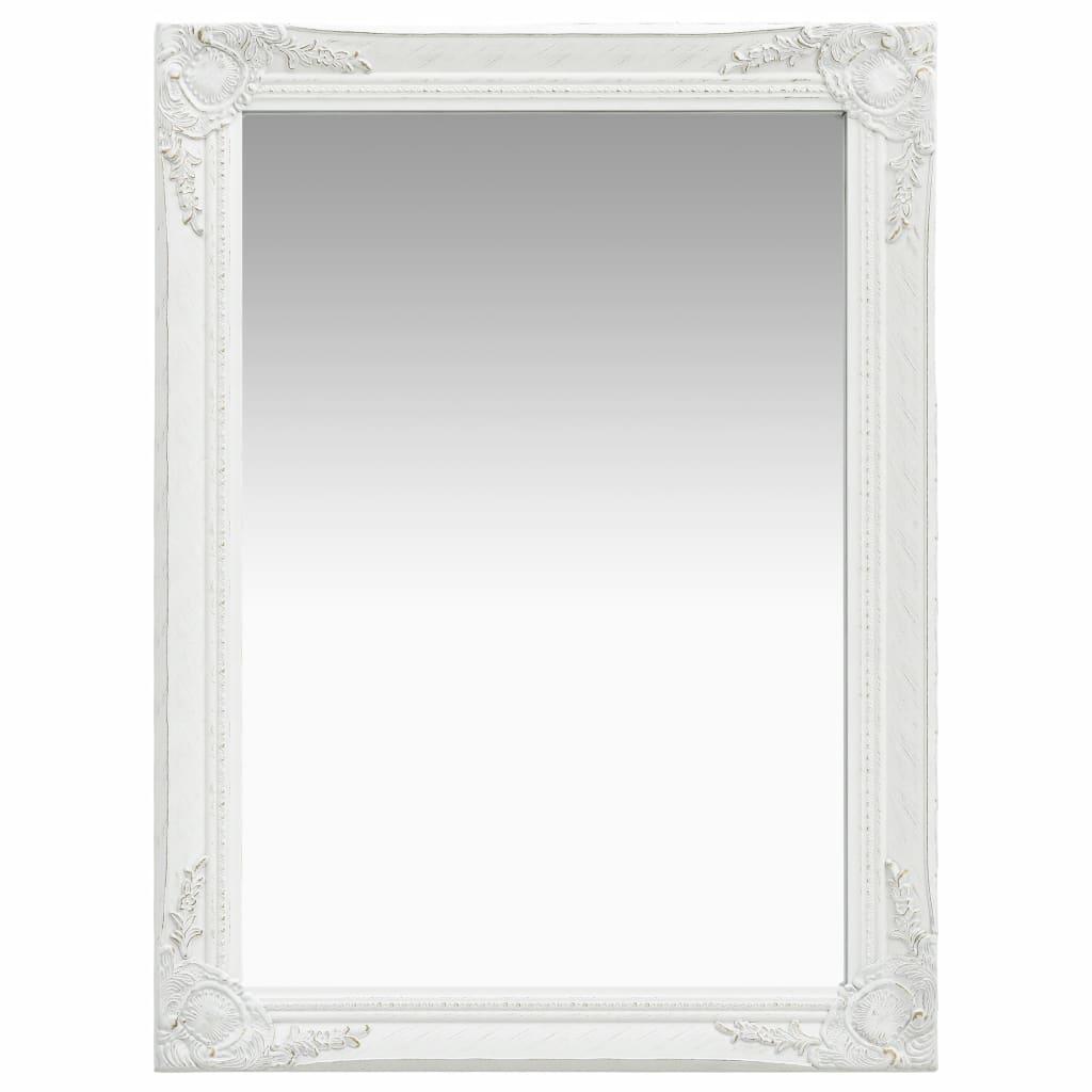 vidaXL Nástenné zrkadlo v barokovom štýle 60x80 cm biele