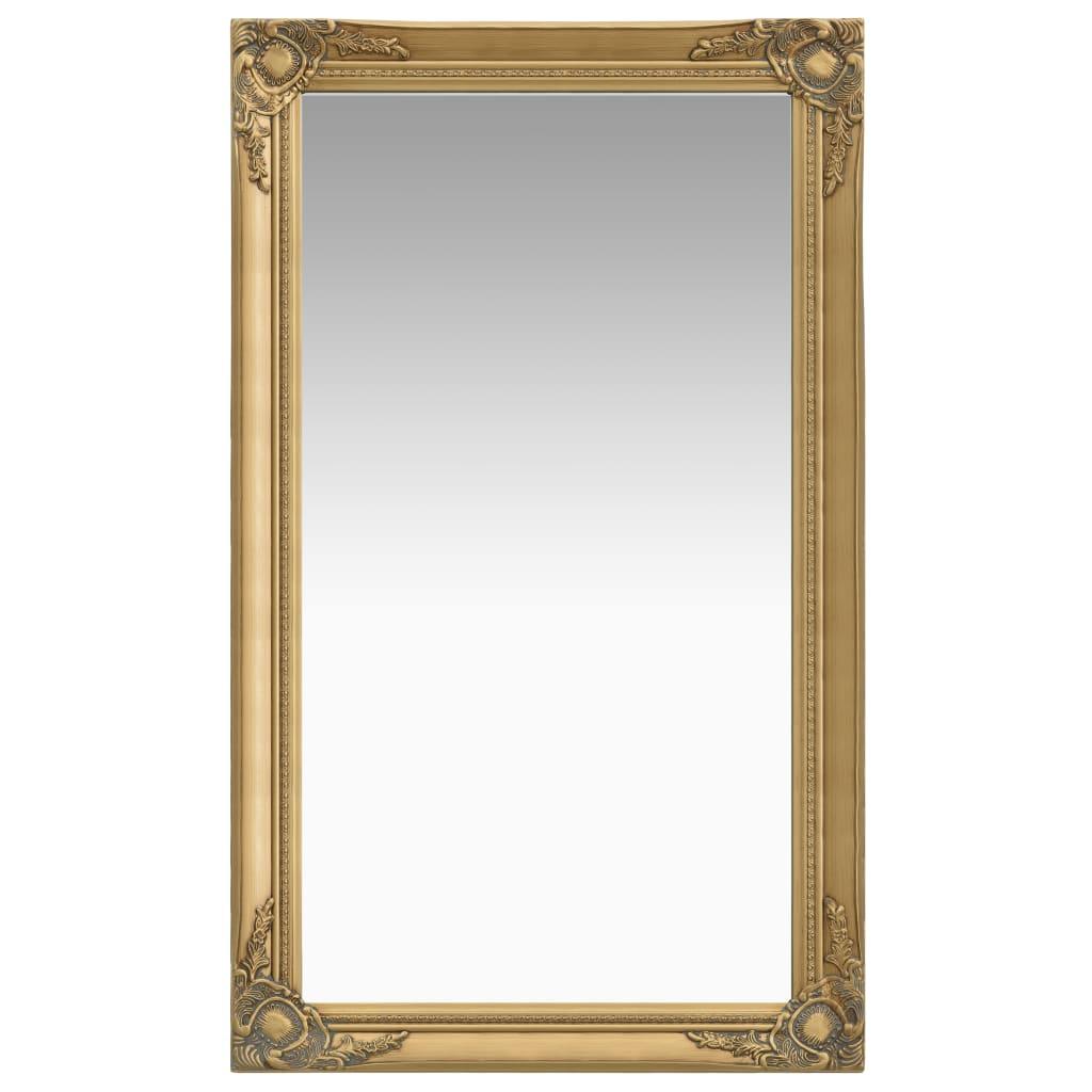 vidaXL Nástenné zrkadlo v barokovom štýle 60x100 cm zlaté