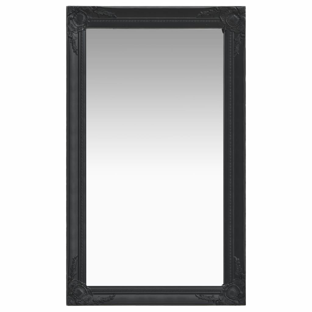 vidaXL Nástenné zrkadlo v barokovom štýle 60x100 cm čierne