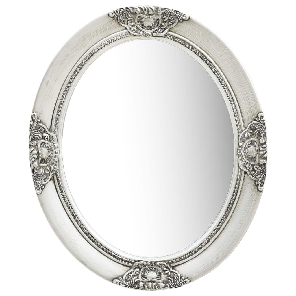vidaXL Nástenné zrkadlo v barokovom štýle 50x60 cm strieborné