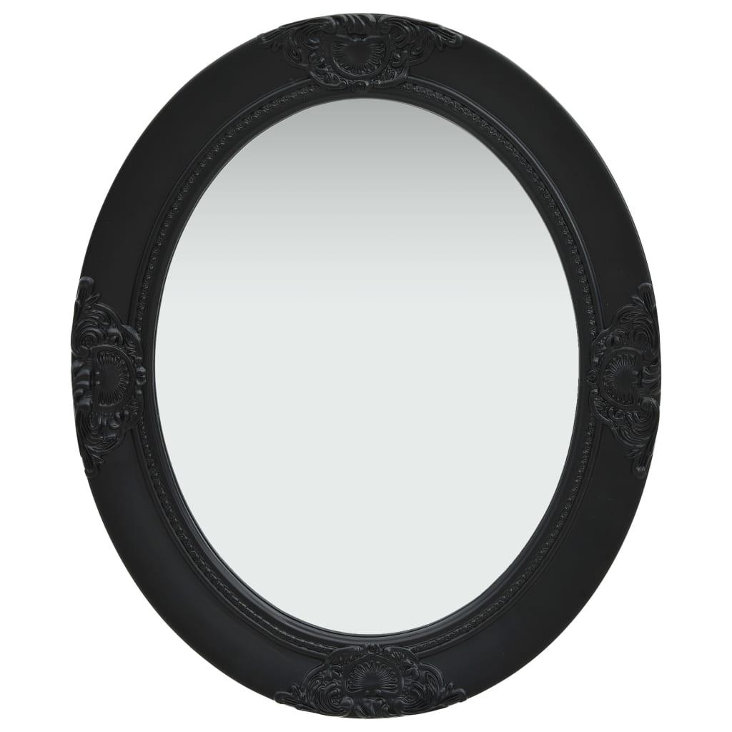 vidaXL Nástenné zrkadlo v barokovom štýle 50x60 cm čierne