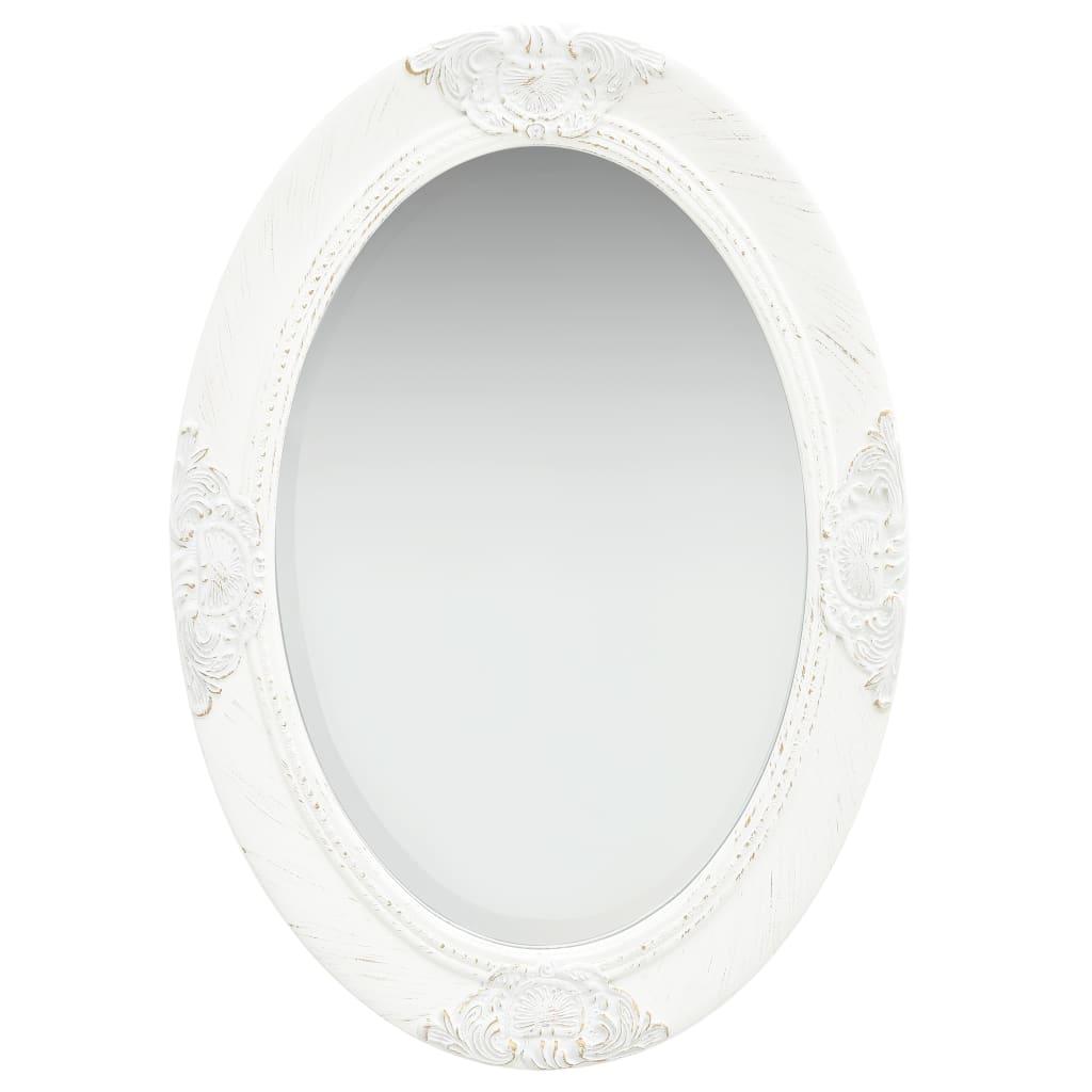 vidaXL Nástenné zrkadlo v barokovom štýle 50x70 cm biele
