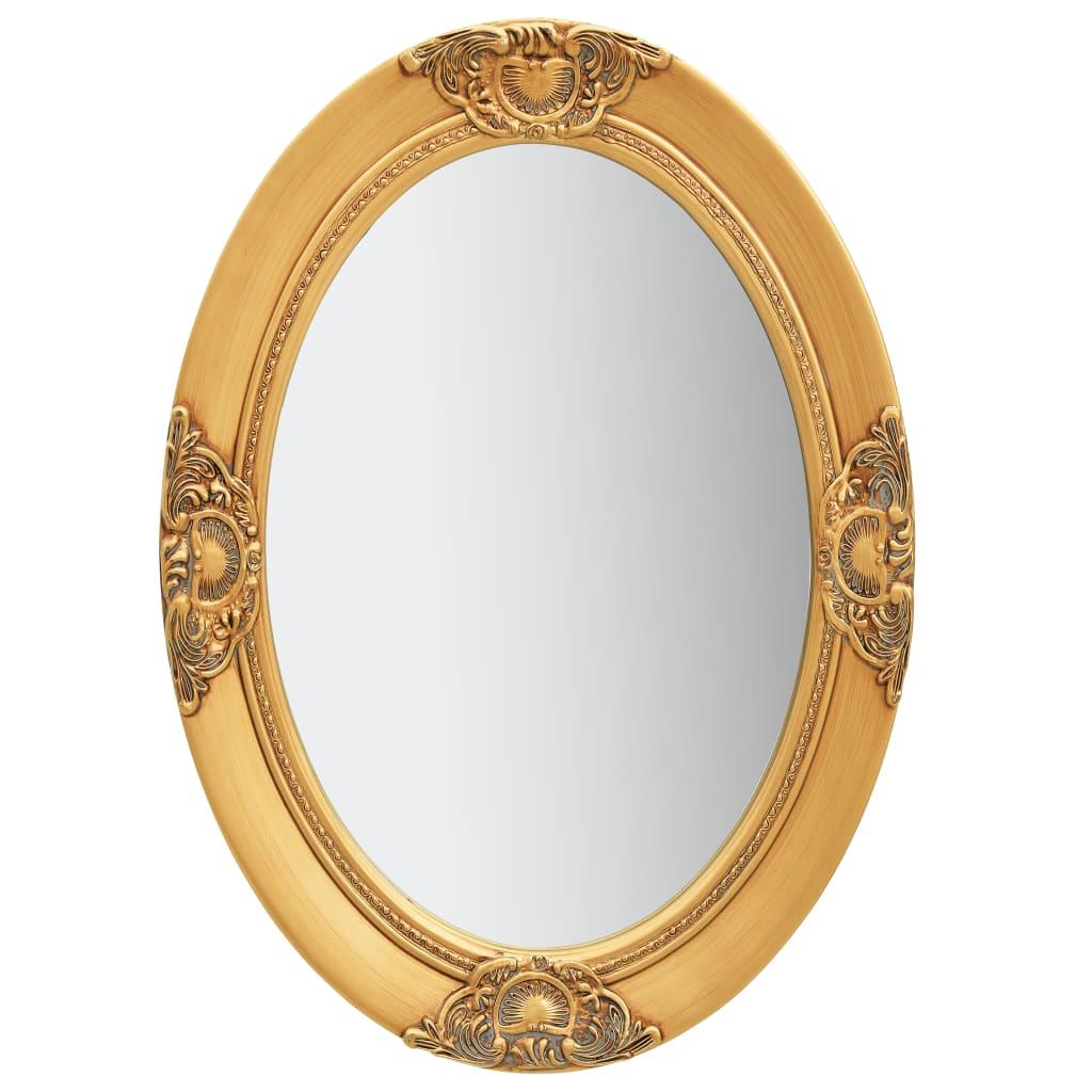 vidaXL Nástenné zrkadlo v barokovom štýle 50x70 cm zlaté