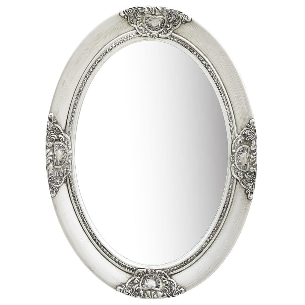 vidaXL Nástenné zrkadlo v barokovom štýle 50x70 cm strieborné
