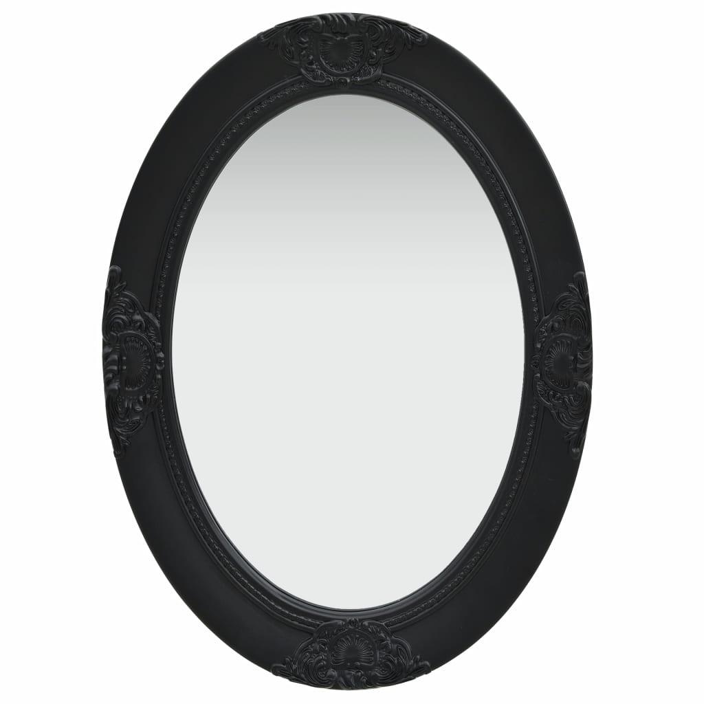 vidaXL Nástenné zrkadlo v barokovom štýle 50x70 cm čierne