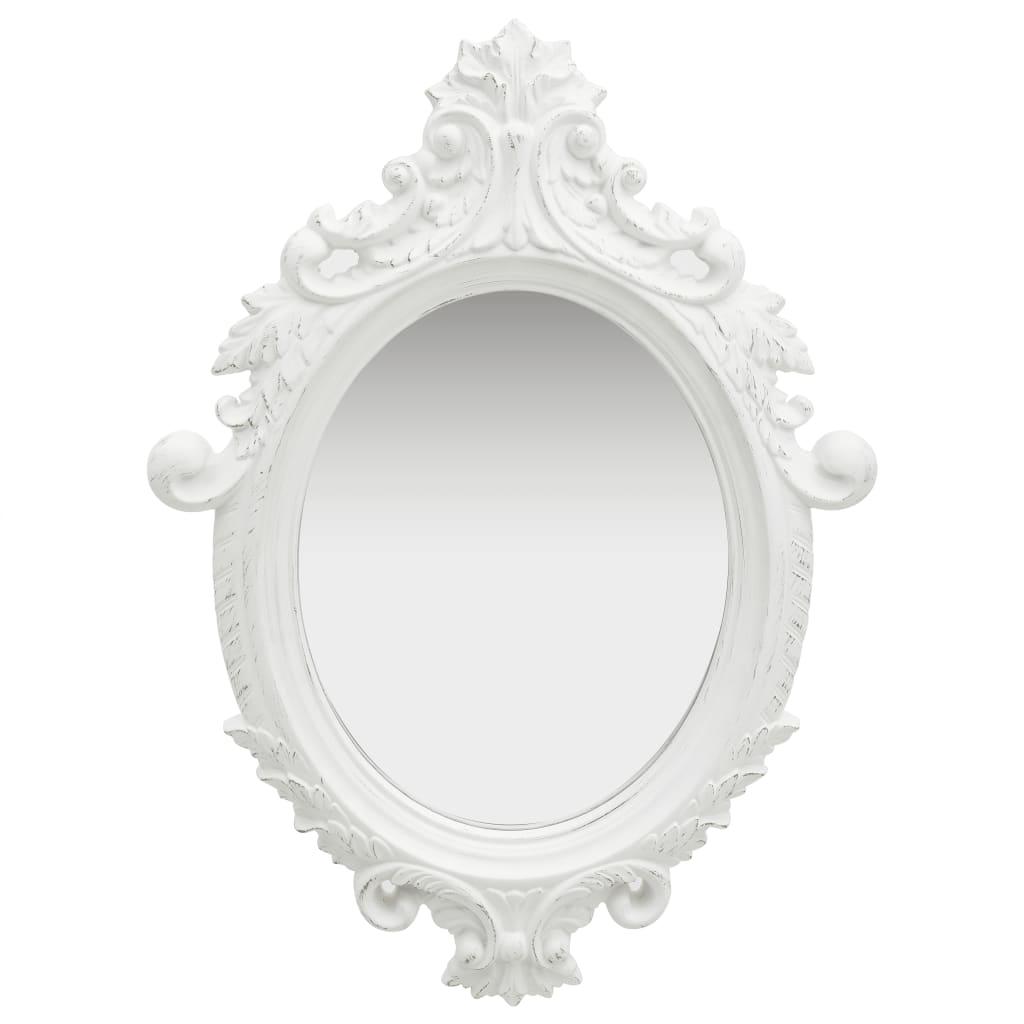 vidaXL Nástenné zrkadlo v zámockom štýle 56x76 cm biele