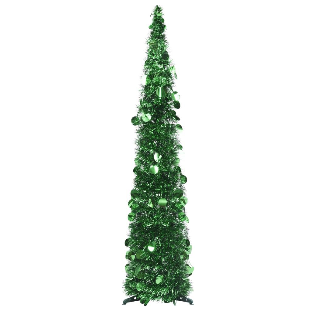 vidaXL Rozkladací umelý vianočný stromček zelený 120 cm PET
