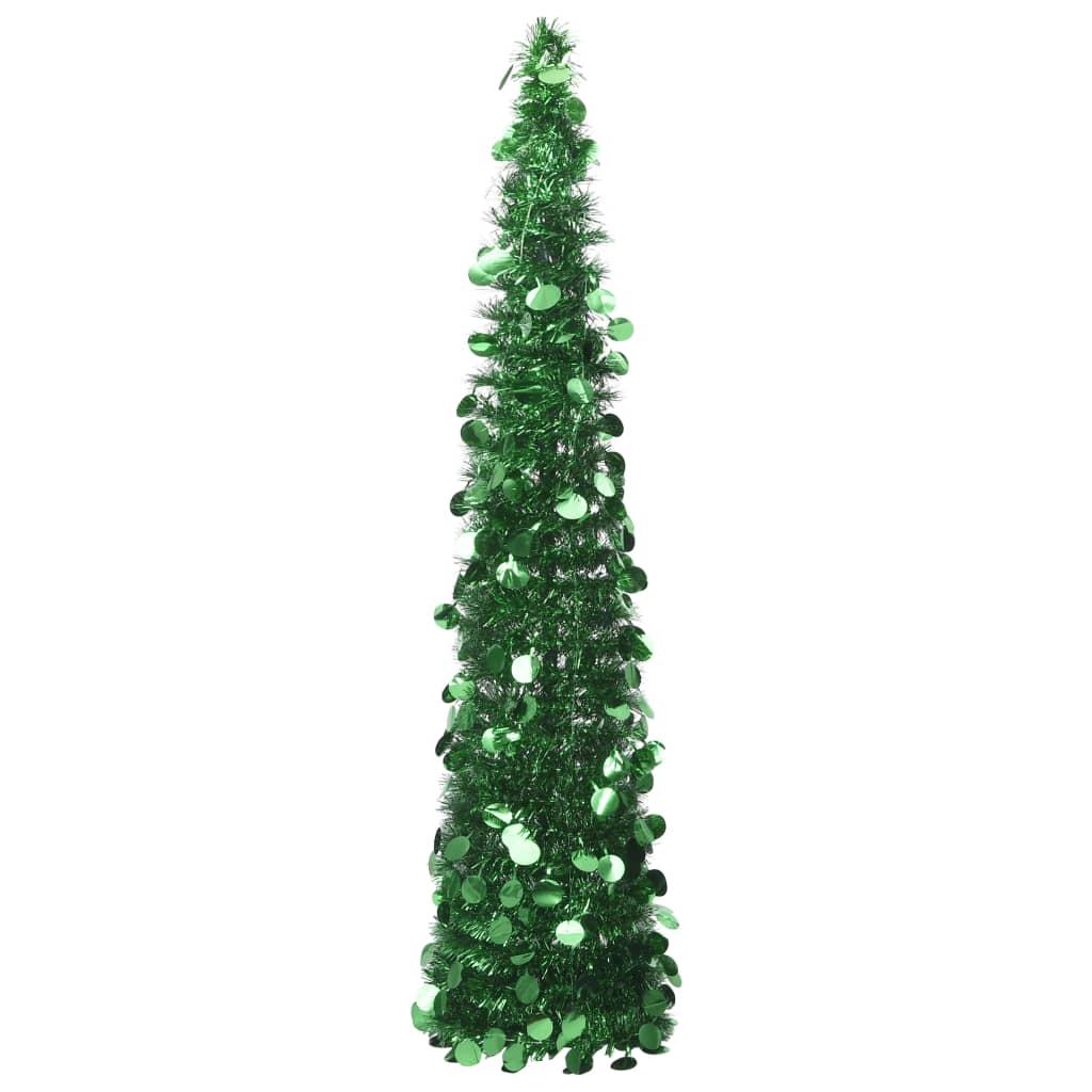 vidaXL Rozkladací umelý vianočný stromček zelený 150 cm PET