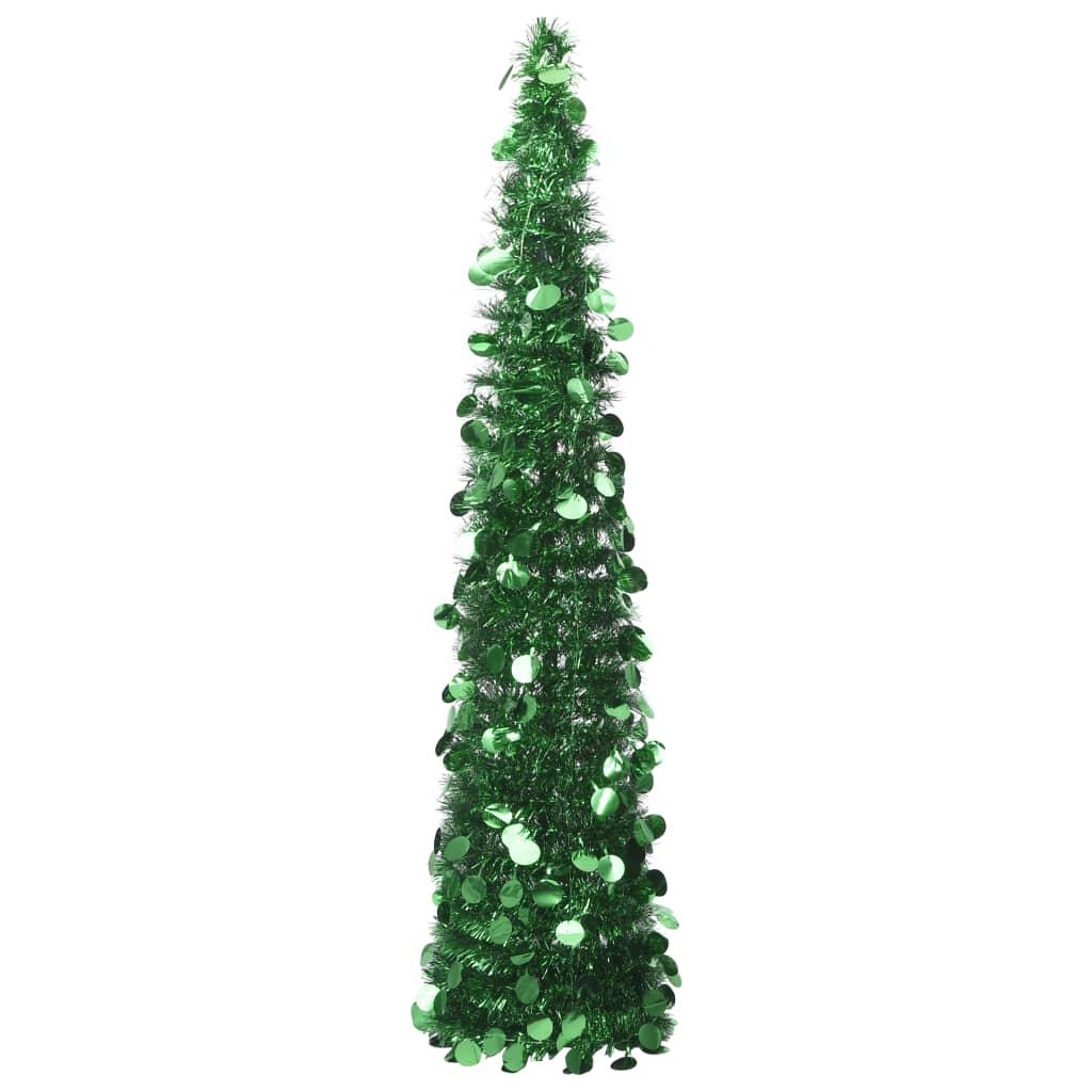 vidaXL Rozkladací umelý vianočný stromček zelený 180 cm PET