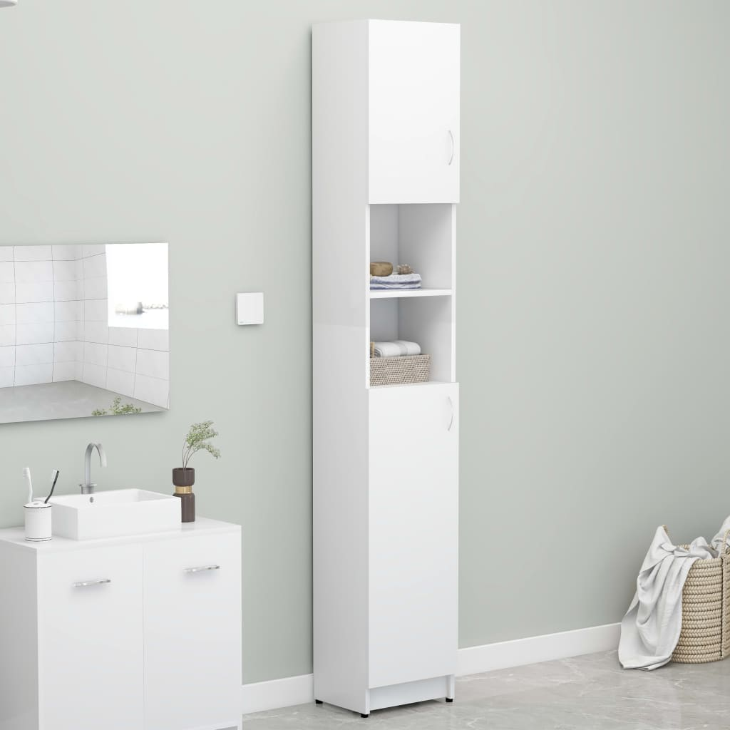 vidaXL Skrinka na práčku biela 32x25,5x190 cm drevotrieska