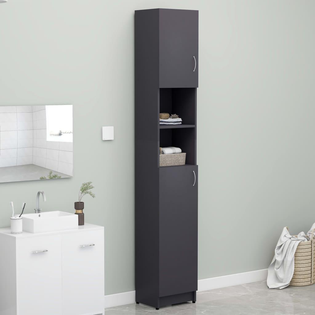 vidaXL Skrinka na práčku sivá 32x25,5x190 cm drevotrieska
