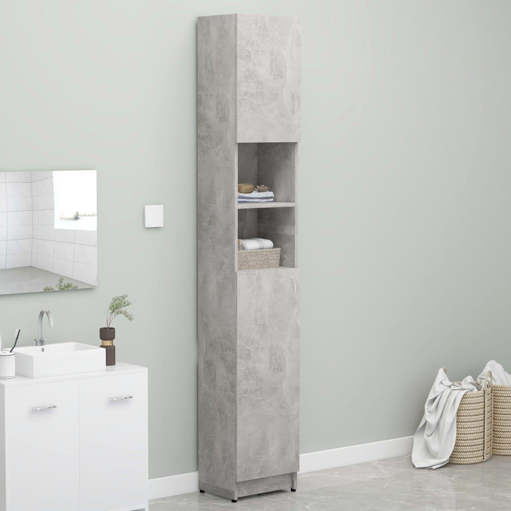 vidaXL Skrinka na práčku betónová sivá 32x25,5x190 cm drevotrieska