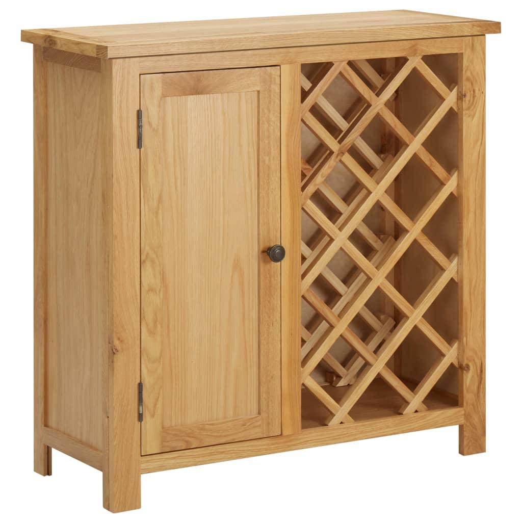 vidaXL Skrinka na víno na 11 fliaš 80x32x80 cm dubový masív
