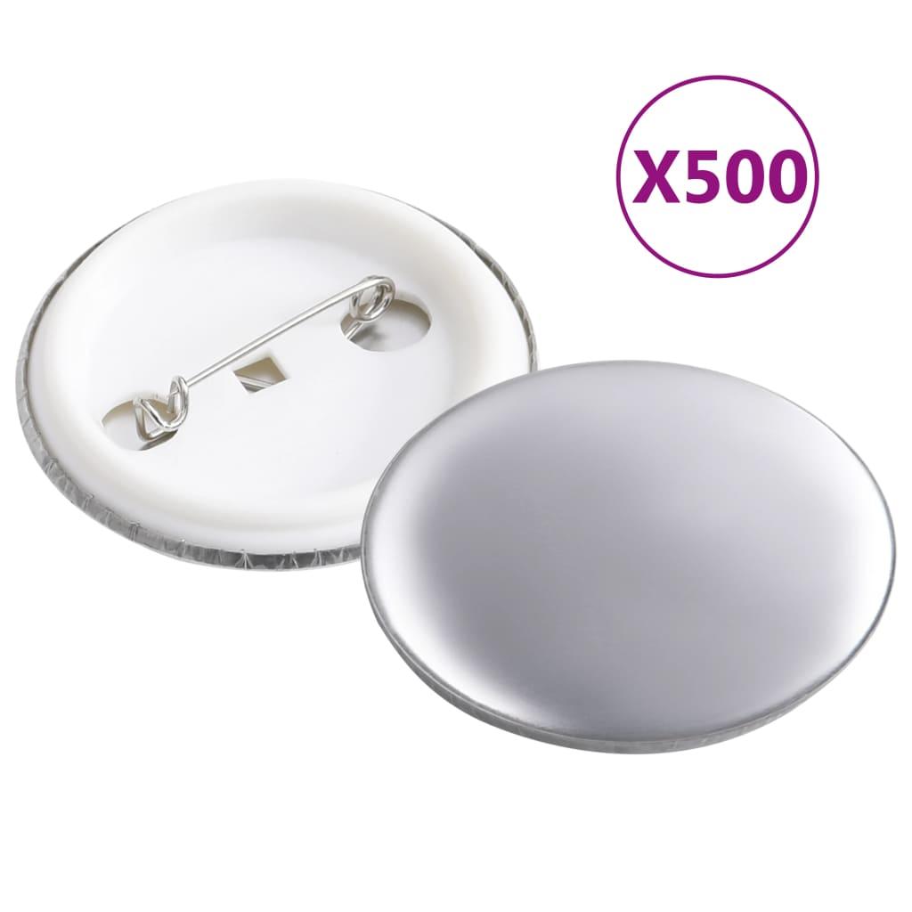 vidaXL Komponenty na výrobu odznakov 500 sád, 37 mm
