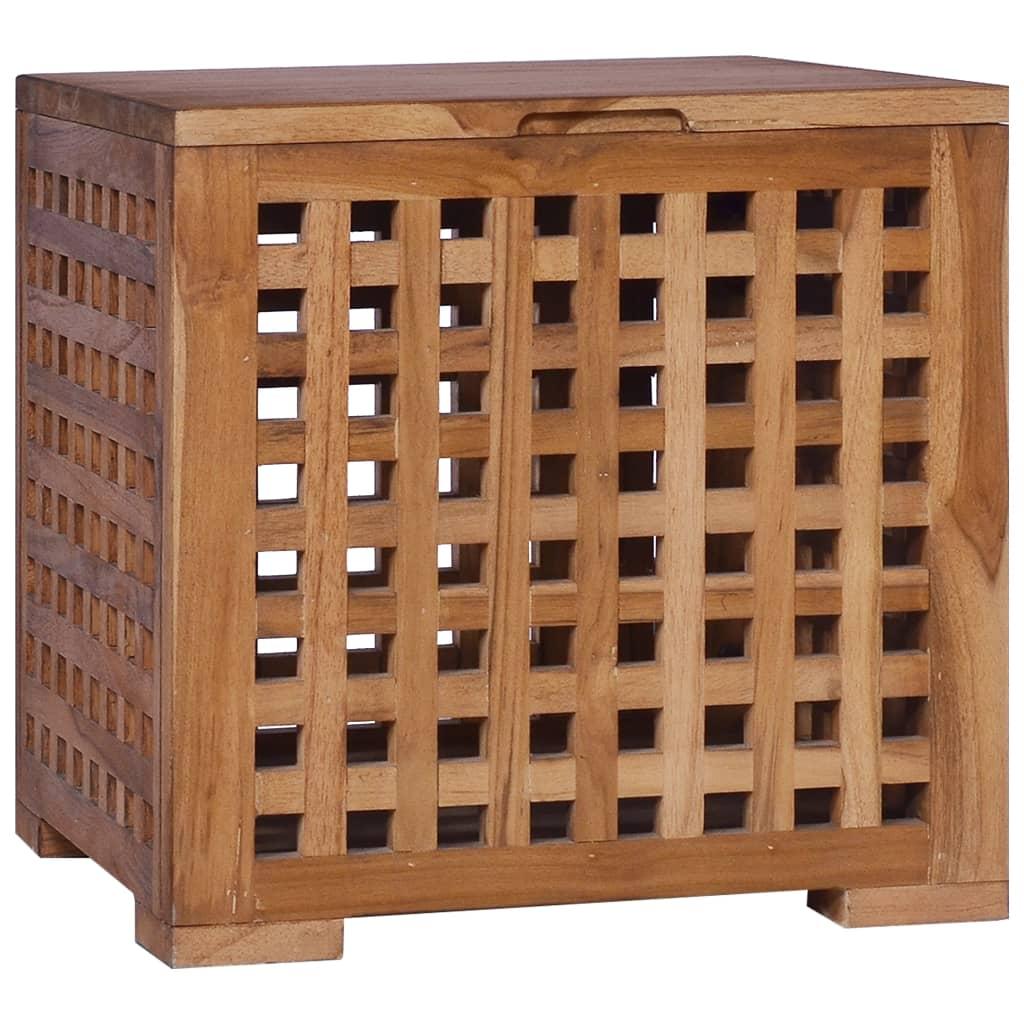 vidaXL Úložná truhlica 40x40x40 cm masívne teakové drevo