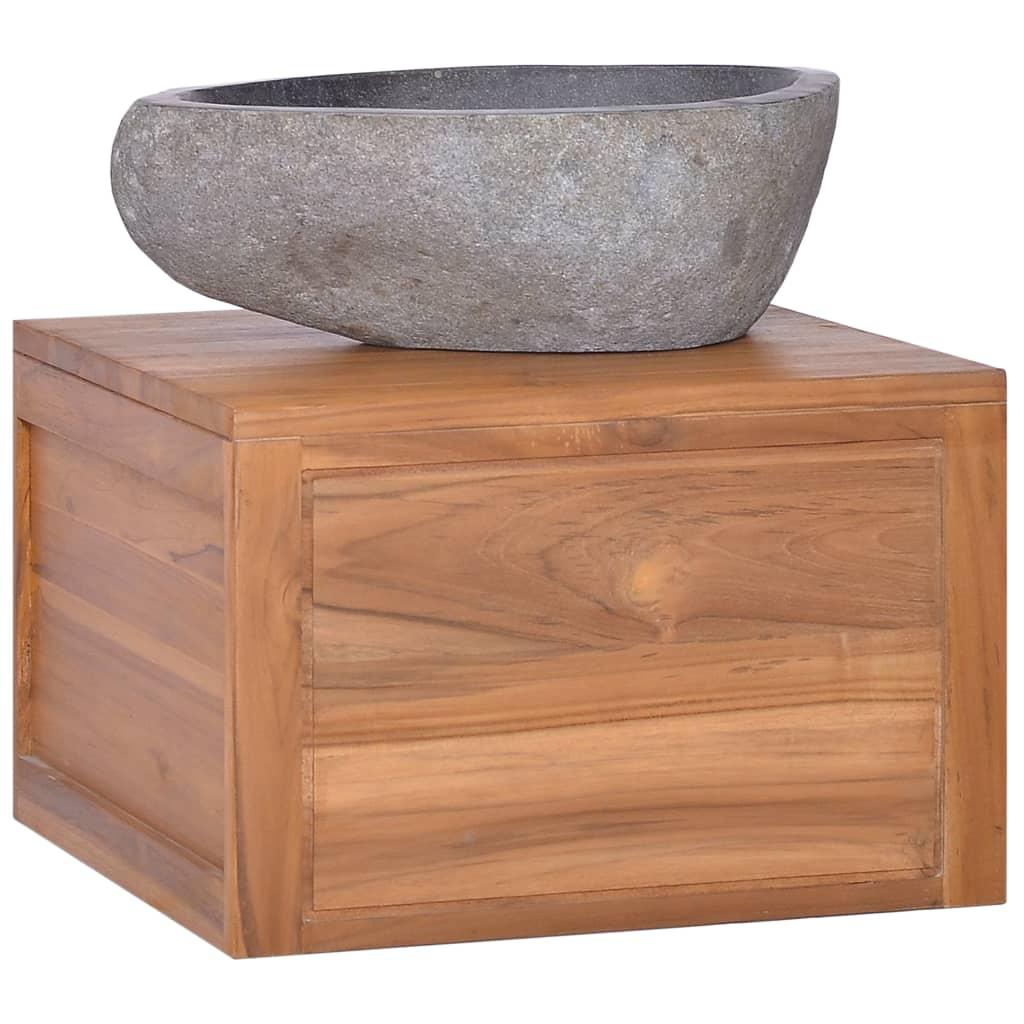vidaXL Nástenná kúpeľňová skrinka 45x45x30 cm masívne teakové drevo