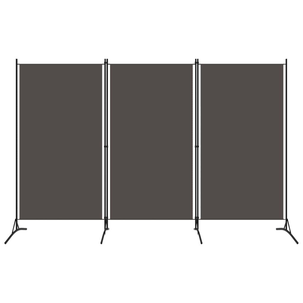 vidaXL 3-panelový paraván antracitový 260x180 cm