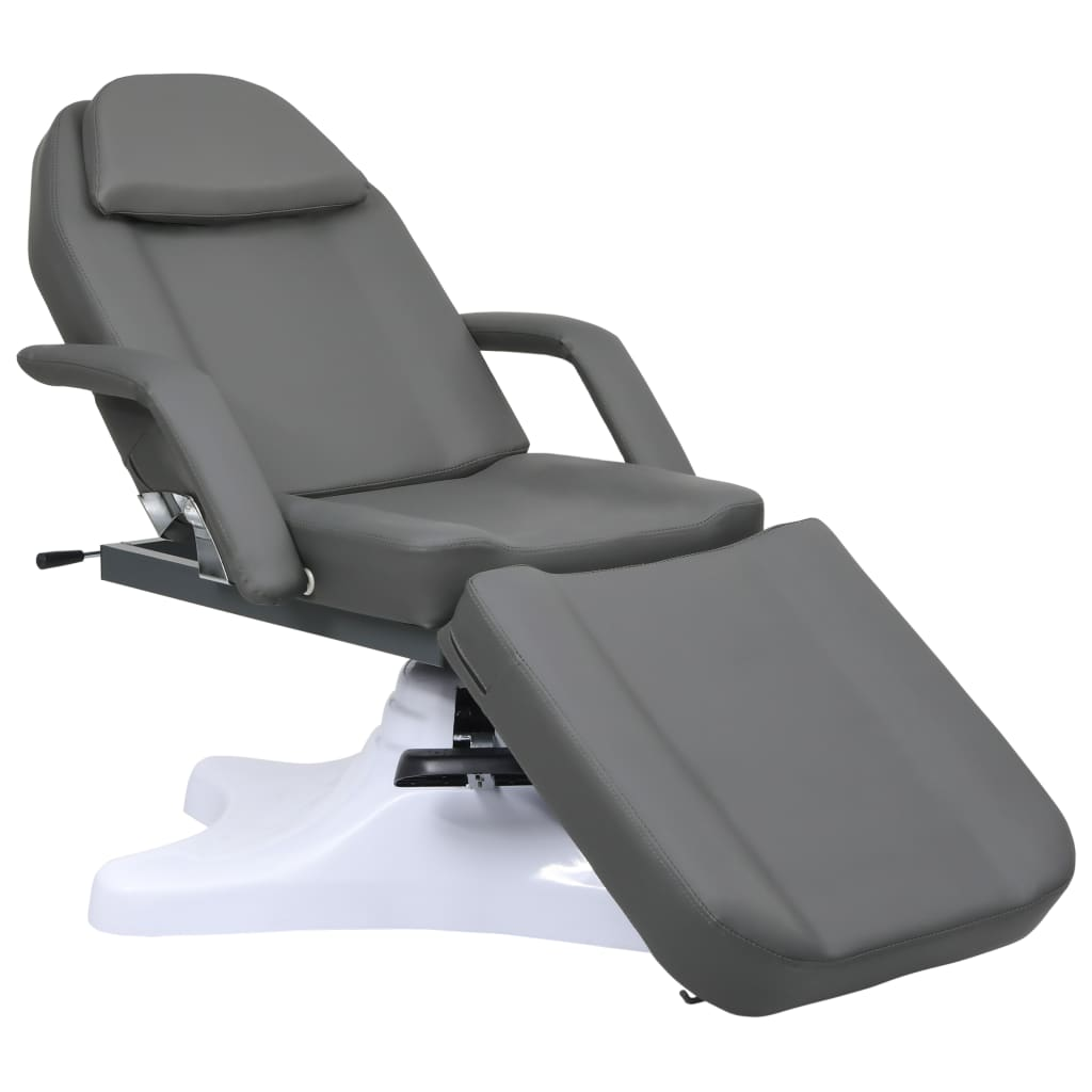 vidaXL Masážny stôl, sivý 180x62x(86,5-118) cm