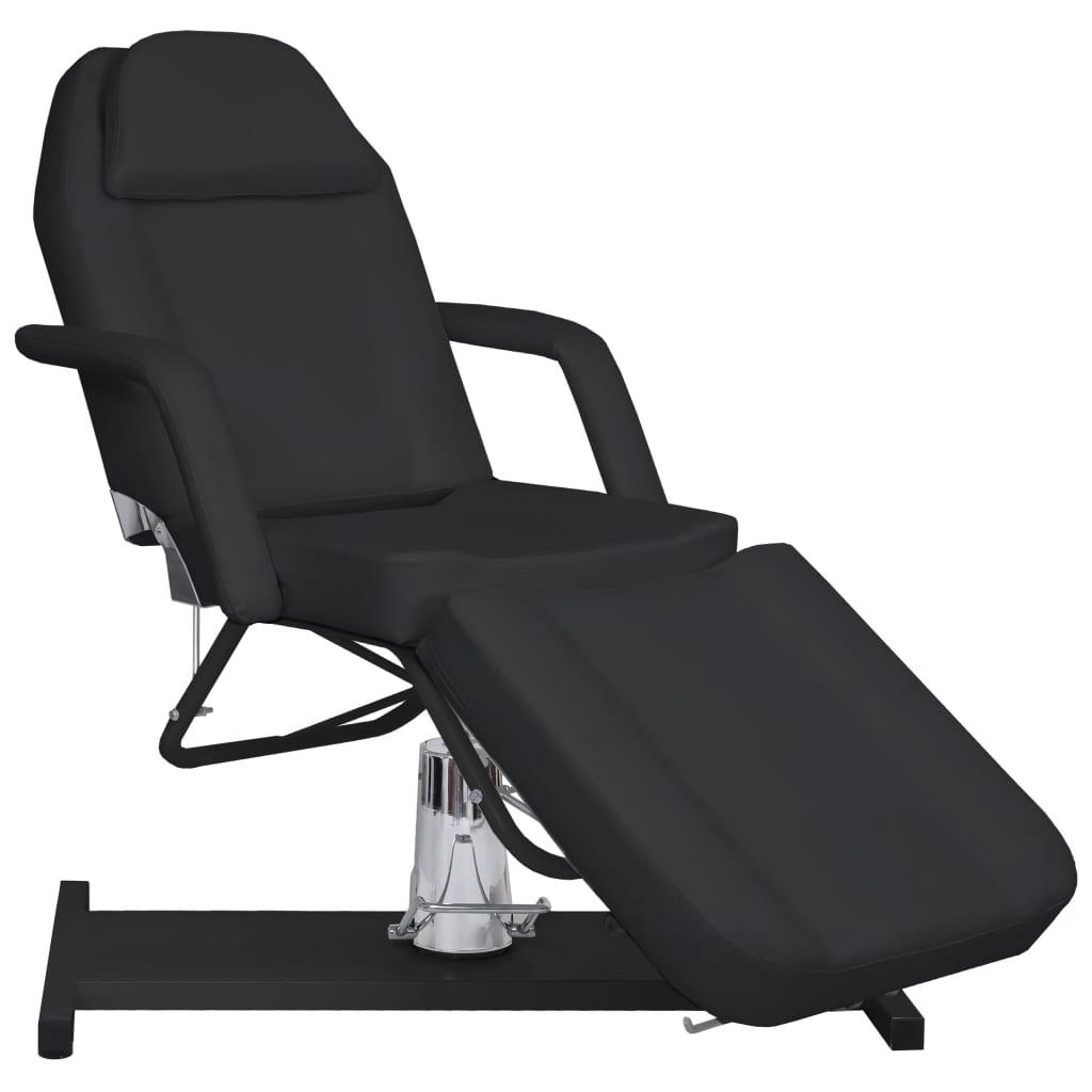 vidaXL Masážny stôl, čierny 180x62x(87-112) cm