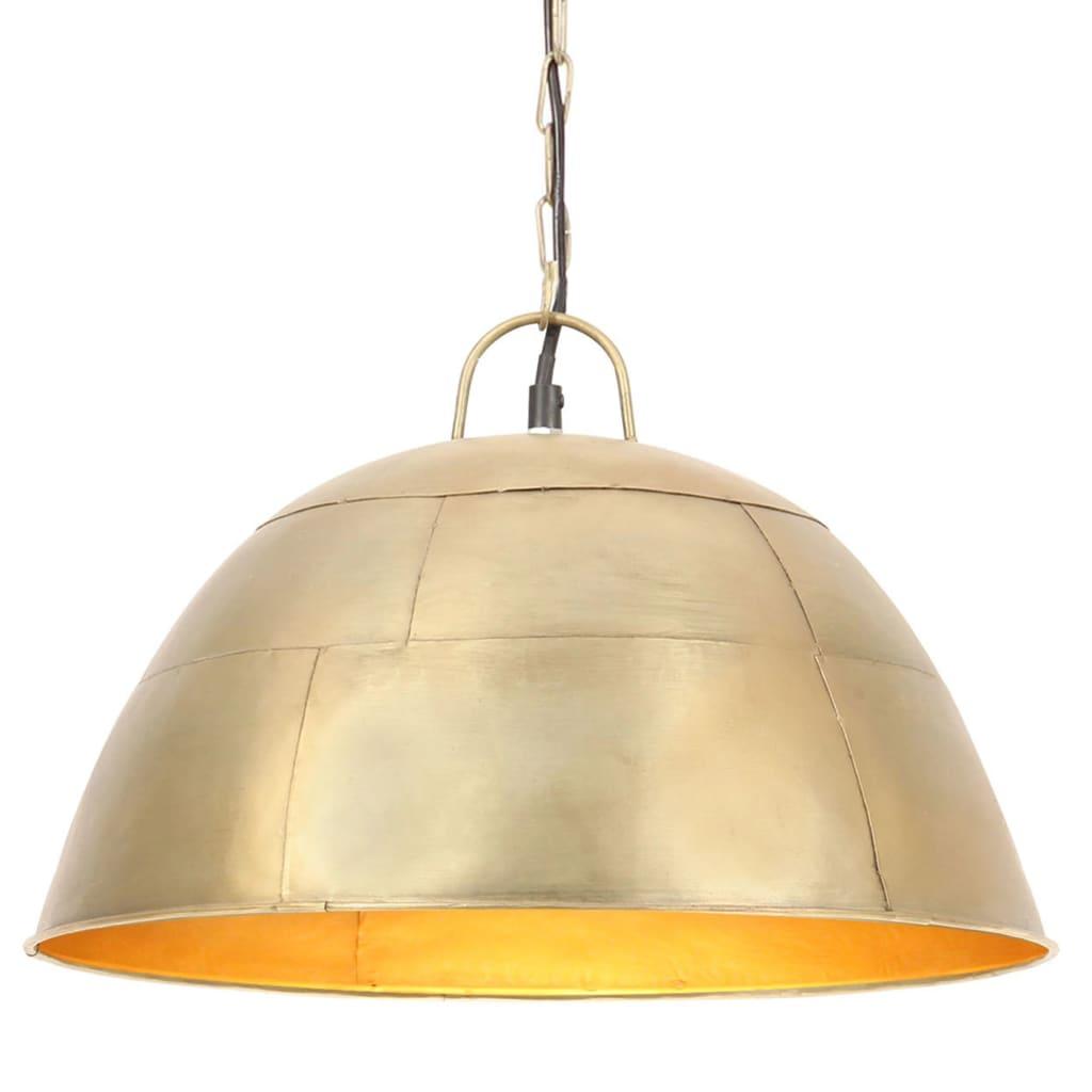 vidaXL Industriálna vintage závesná lampa 25 W, mosadzná 41 cm E27