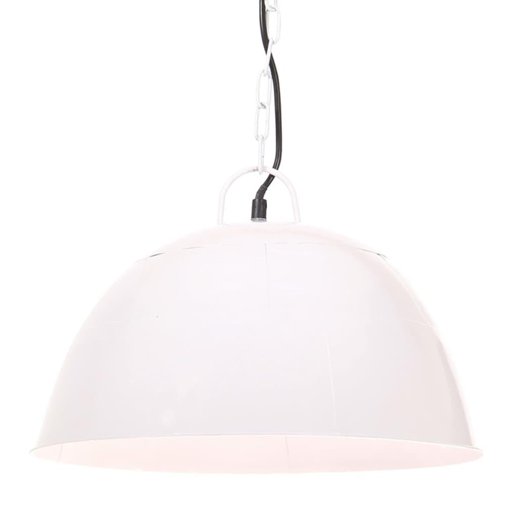 vidaXL Industriálna vintage závesná lampa 25 W, biela 41 cm E27