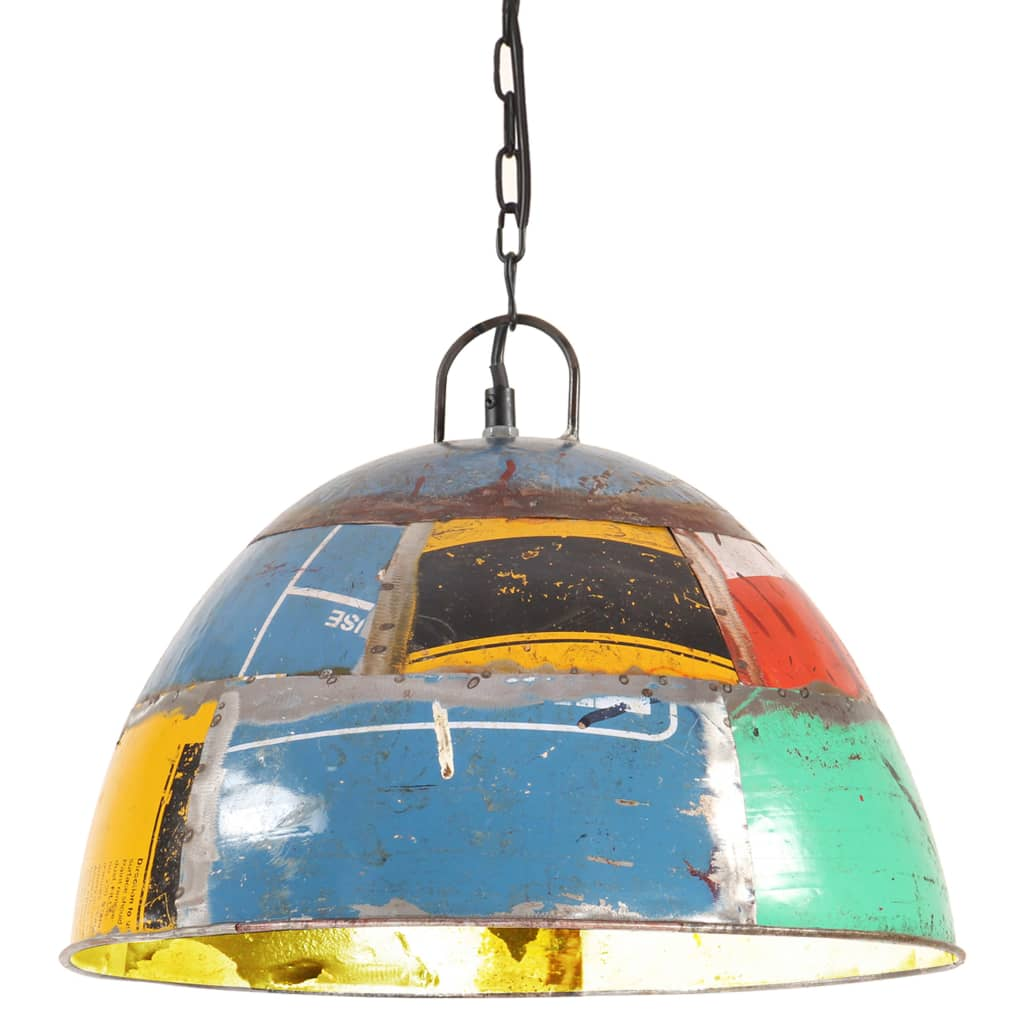 vidaXL Industriálna vintage závesná lampa 25 W, farebná 41 cm E27