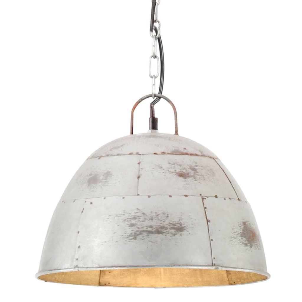 vidaXL Industriálna vintage závesná lampa 25 W, strieborná 31 cm E27