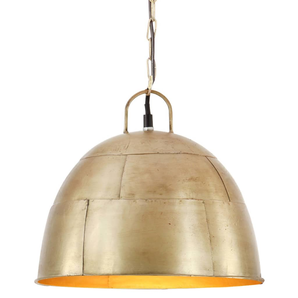vidaXL Industriálna vintage závesná lampa 25 W, mosadzná 31 cm E27
