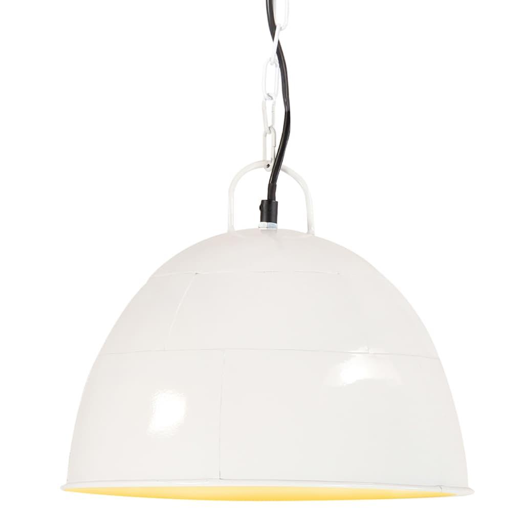 vidaXL Industriálna vintage závesná lampa 25 W, biela 31 cm E27