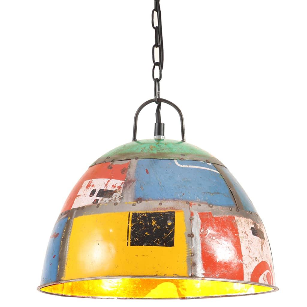 vidaXL Industriálna vintage závesná lampa 25 W, farebná 31 cm E27