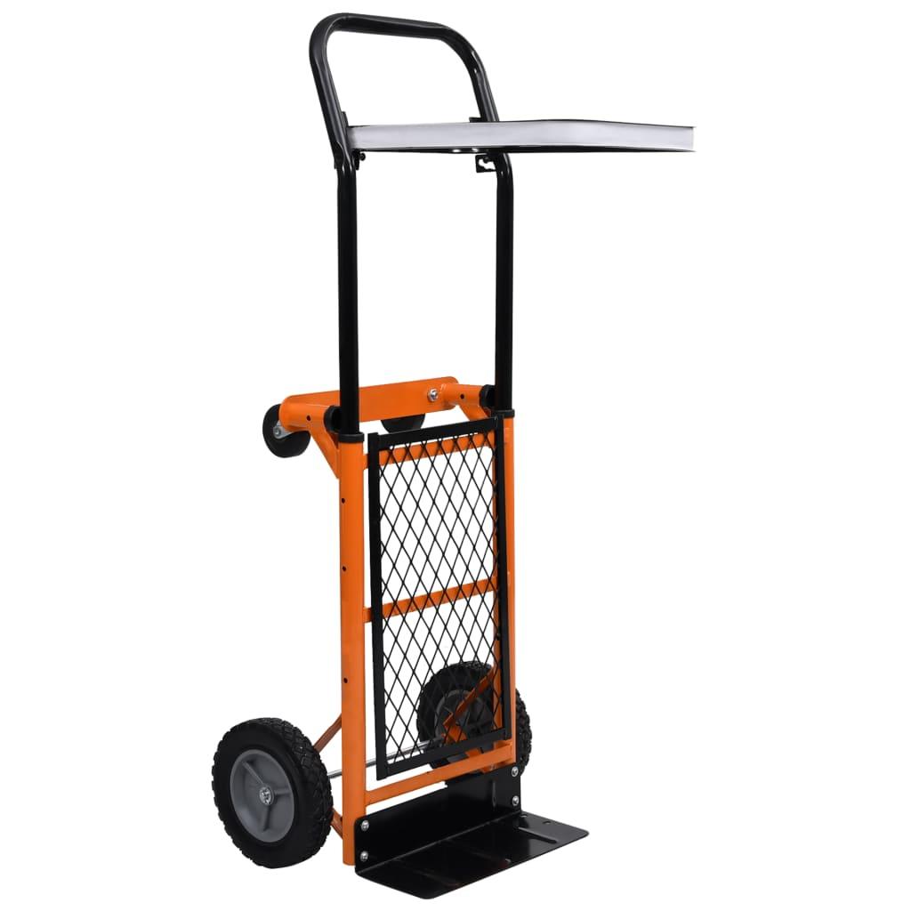 vidaXL 2 v 1 skladací ručný vozík s plošinou pre zberné vrece