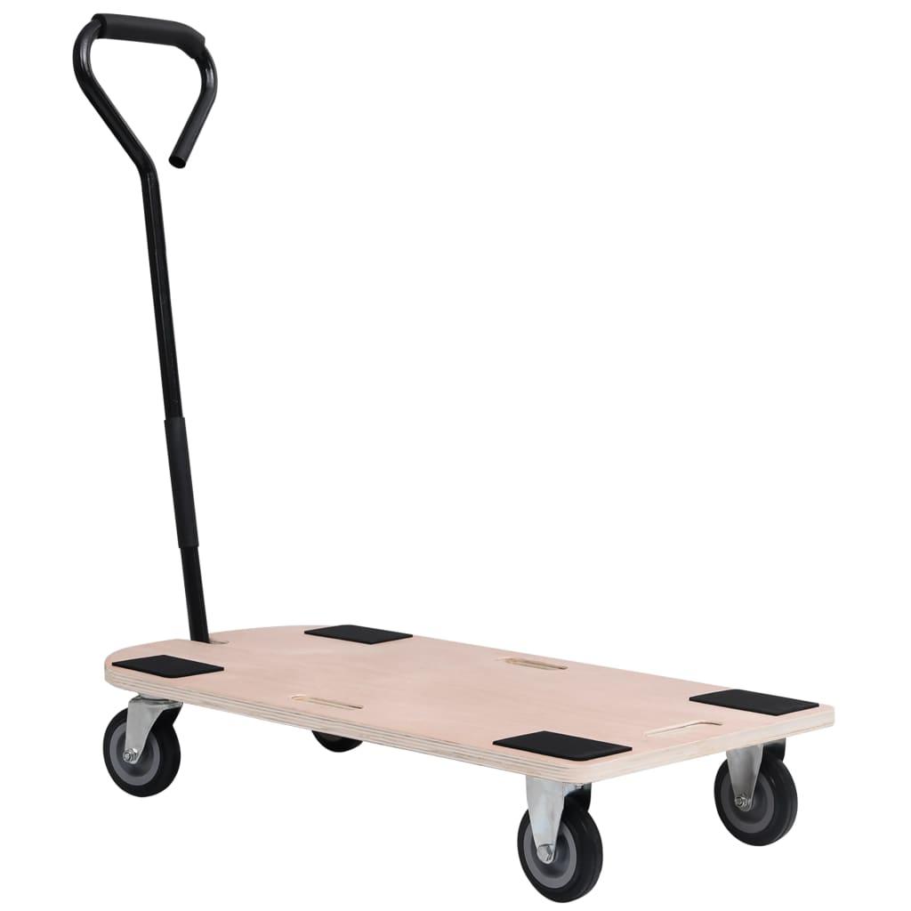 vidaXL 4-kolesový vozík s rukoväťou 250 kg