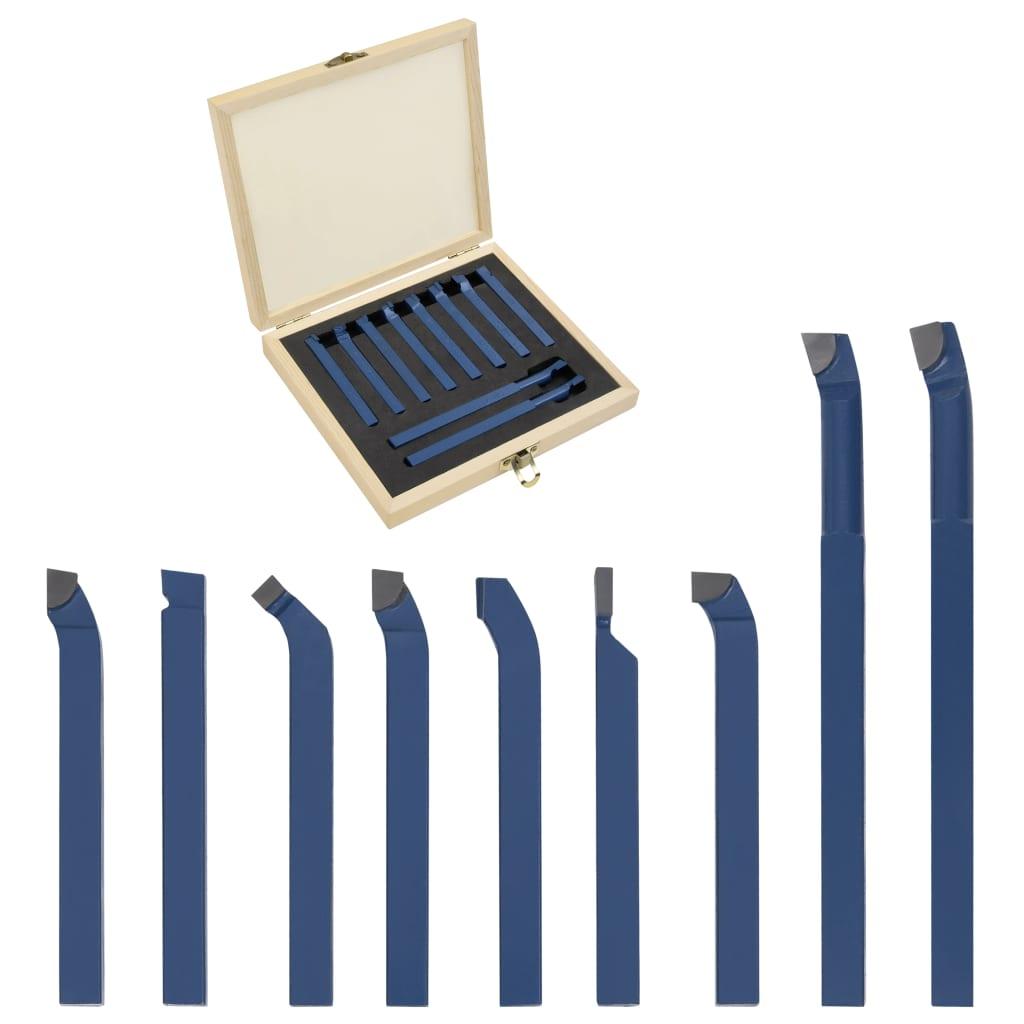 vidaXL 11-dielna sada karbidových sústružníckych nástrojov 8x8 mm P30