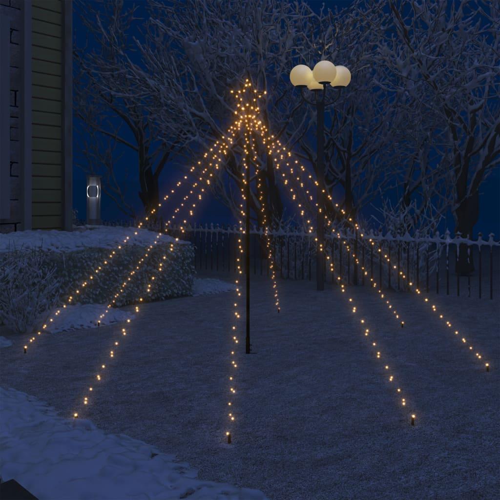 vidaXL LED vodopádové svetlá na vianočný stromček interiérové a exteriérové 400 LED diód 2,5 m