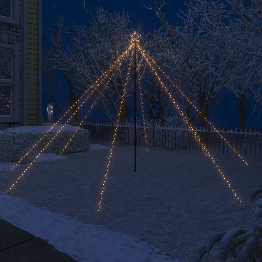 vidaXL LED vodopádové svetlá na vianočný stromček interiérové a exteriérové 576 LED diód 3,6 m