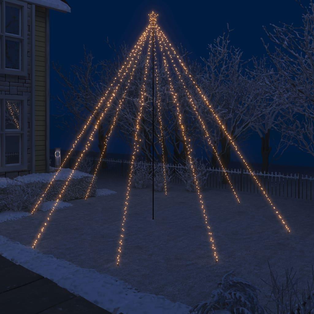 vidaXL LED vodopádové svetlá na vianočný stromček interiérové a exteriérové 800 LED diód 5 m