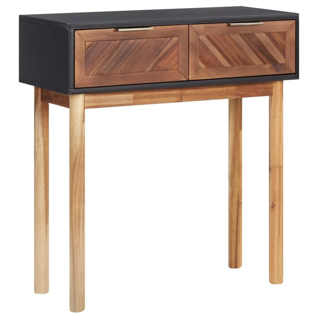 vidaXL Konzolový stolík 70x30x75 cm masívne akáciové drevo a MDF