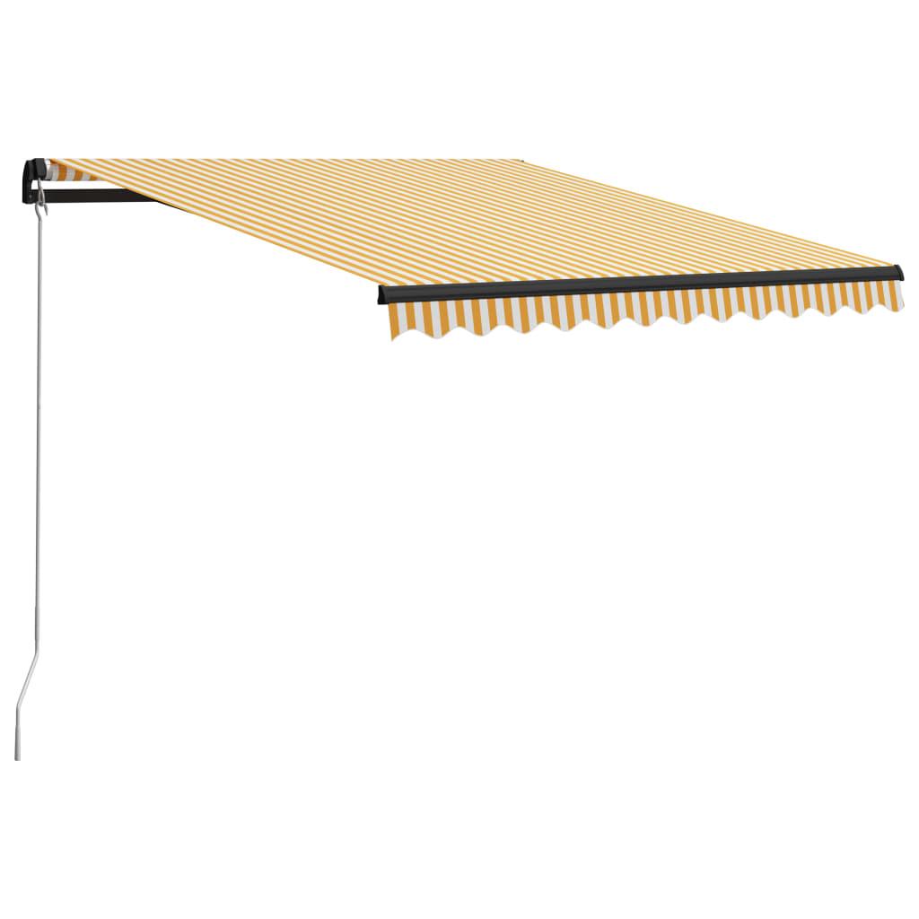 vidaXL Ručne zaťahovacia markíza 300x250 cm žltá a biela