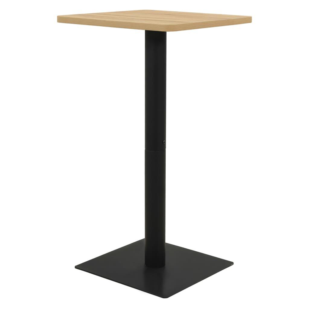 vidaXL Bistro stolík, dubová farba 50x50x107 cm
