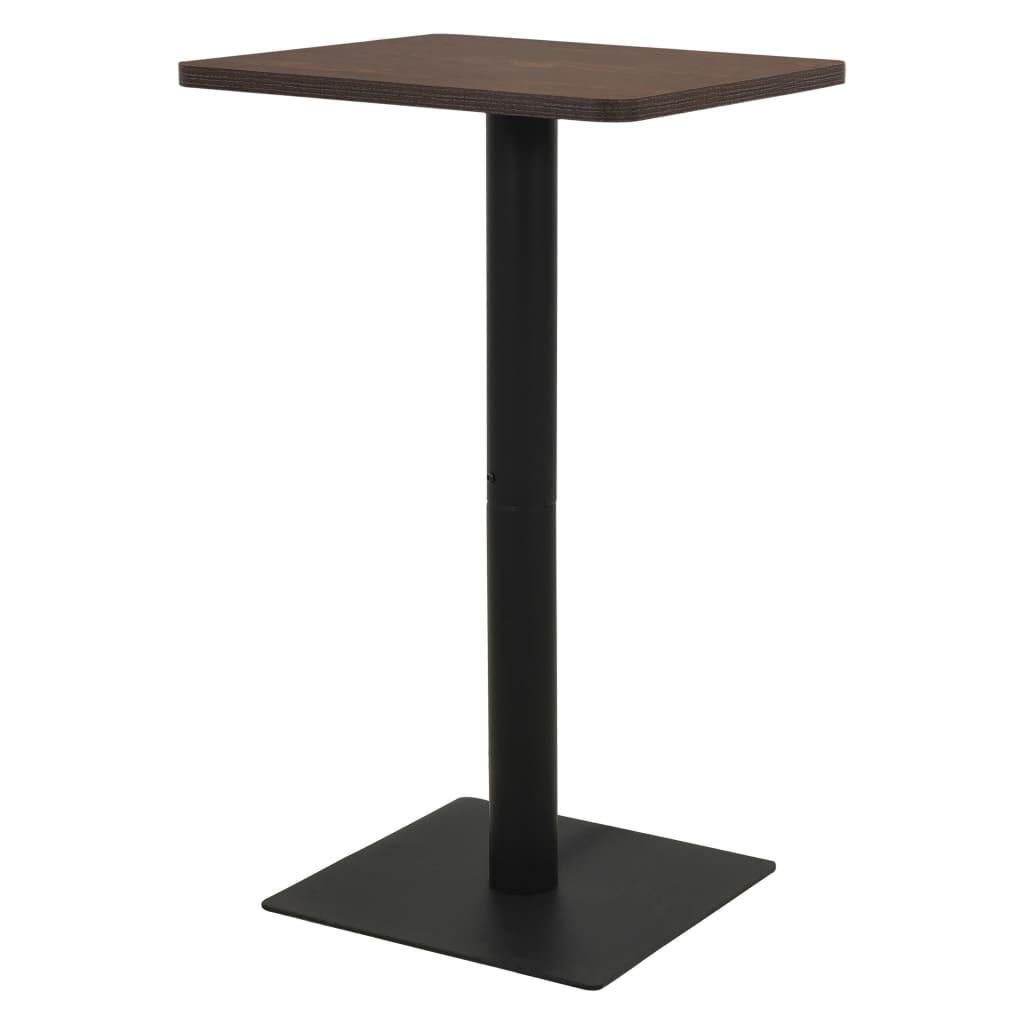 vidaXL Bistro stolík, farba tmavého jaseňa 70x70x107 cm