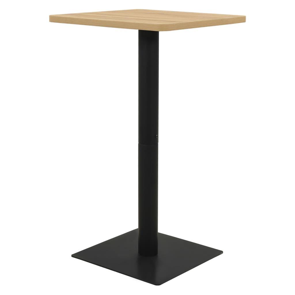 vidaXL Bistro stolík, dubová farba 70x70x107 cm