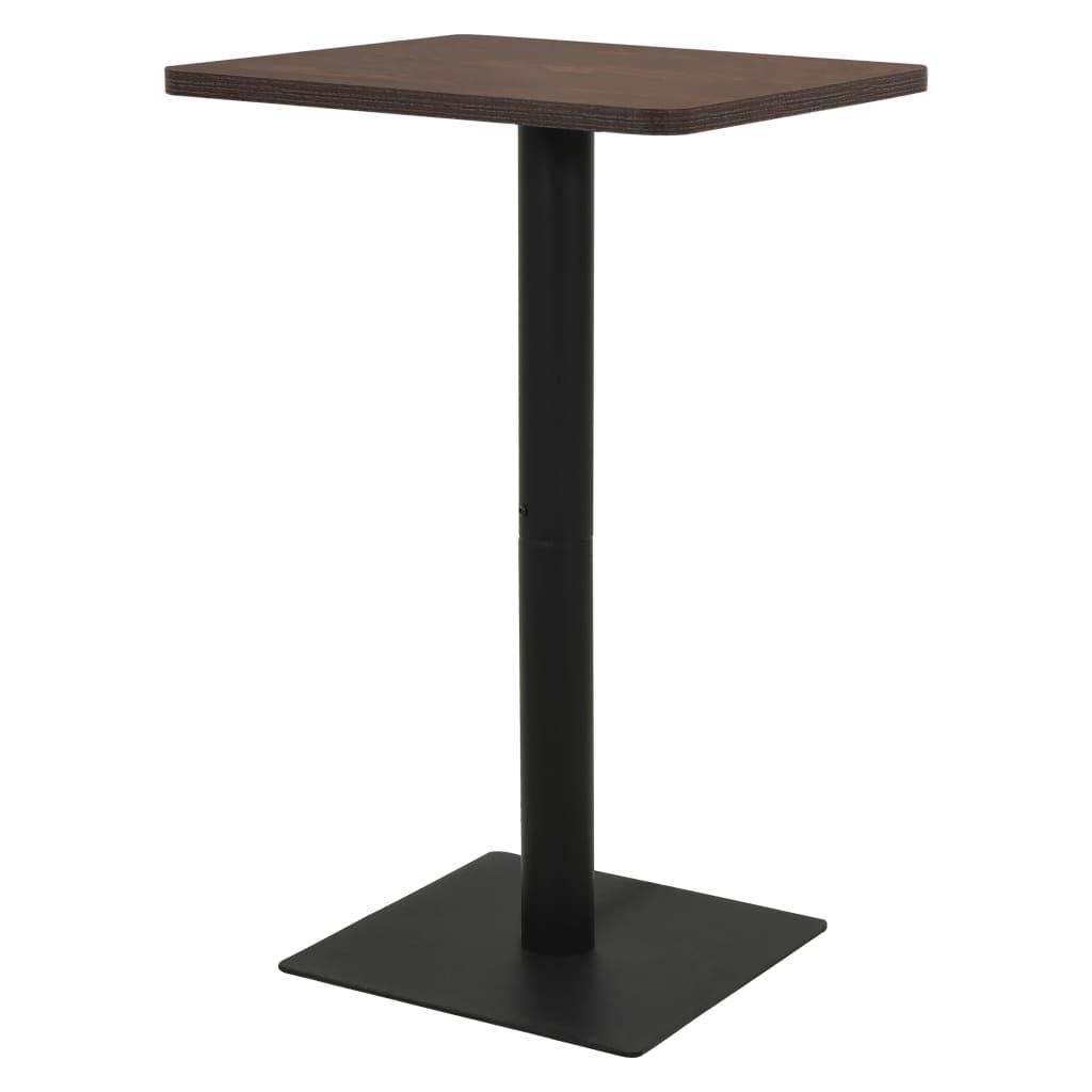 vidaXL Bistro stolík, farba tmavého jaseňa 78,5x78,5x107 cm