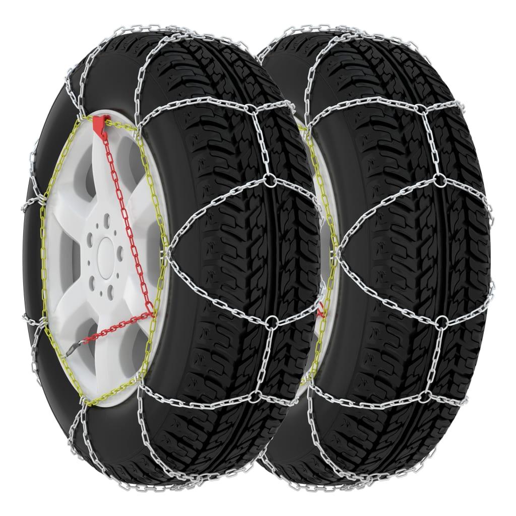 vidaXL Snehové reťaze na pneumatiky 2 ks 9 mm, KN60