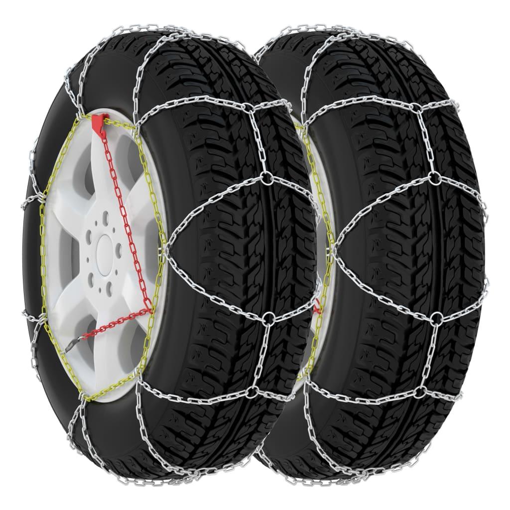 vidaXL Snehové reťaze na pneumatiky 2 ks 9 mm, KN80