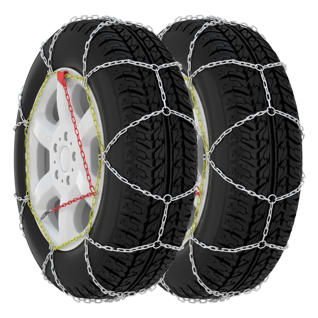 vidaXL Snehové reťaze na pneumatiky 2 ks 9 mm, KN90